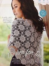 Ladies Flower-Scattered Shawl Lace Weight CROCHET PATTERN