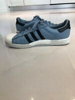 ADIDAS ORIGINALS SUPERSTAR BOOST MEN'S SNEAKERS TACTILE BLUE / BLACK / WHITE