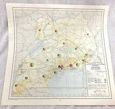 More details for 1967 vintage map of uganda africa industrial mining mines copper tin beryl salts