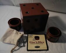 Liars Dice Game ~Collectors Edition ~ Wood Box ~ Bluffing Games