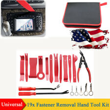 19Pcs Car Door Trim Panel Release Removal Plier Fastener Remover Hand Tool Kit