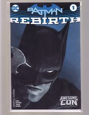 DC COMICS THE NEW 52! BATMAN REBIRTH #1 2016 AWESOME COMIC CON EXCLUSIVE VARIANT