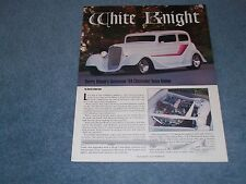 "1934 Chevrolet 2-Door Town Sedan Street Rod Article ""White Knight"""