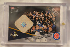 2017 Topps Now Game Used Base Relic Card#754A Chicago Cubs Advance to NLCS 24/99