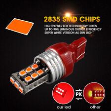 2X 7443 T20 2835 15 LED Red High Power Interior Tail Stop Brake Light Bulbs
