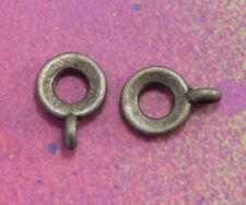 50 Bail Bronze Connector Charm European Spacer Beads Bails Dangle Jewelry Making