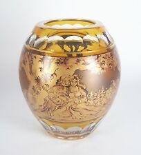 Johann Oertel & Co. Glas Vase Haida Steinschönau Art Deco signiert Hutter Böhmen