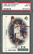 Rashard Lewis Sonics 1998 SP Authentic #118 Rookie Card rC PSA 9 Mint QUANTITY