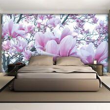 Wandbild Fototapete Fototapeten Tapete Tapeten    Magnolien weiss-lila 1619 P8