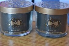 Bath & Body BLACK TIE Mini Candles Bundle of Two (2) 1.3 oz RARE SCENT!