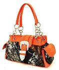 Mossy Oak Camo & Orange Purse Handbag