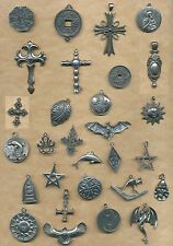 30 large pewter charms- CLEARANCE   (Y5)