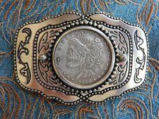NEU Gürtelschnalle Lolita Skelett Skull Antik Silber farbig Metall, Western Goth
