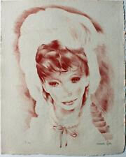 Lithographie originale en sépia de Mariette LYDIS (1894-1970) signée au crayon