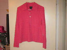 Ladies Sutton/Studio Pink Cashmere Sweater (M)