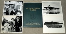 "The Escort Carriers in Action, WW2 US Navy Photo History w/ 4 More 8""x10"" Photos"