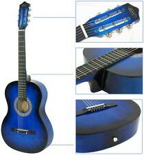 Ubrtools Acoustic Guitar 38' Full Size Adult Blue Includes Guitar Pick.