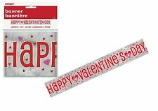 9ft Happy Valentine's Day Foil Red Heart Banner Party Celebrations Ideas