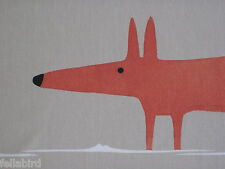 "HARLEQUIN SCION CURTAIN FABRIC DESIGN  ""Mr Fox"" 0.60 METRE NATURAL & PAPRIKA"