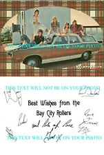 THE BAY CITY ROLLERS SIGNED AUTOGRAPHED 6x90 RP PROMO PHOTO