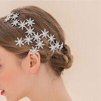 1x Exquisite Spark Crystal Star Tiara Hair Silver Plated Headband Ksy
