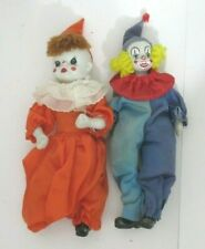 LOT OF TWO SMALL CLOWN DOLLS
