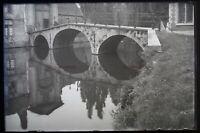 Negativo Foto Artistico Vecchio Pont Placca P50L12n12 c1900