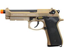 SOCOM GEAR Metal SOF M9A1 Gas Blowback Airsoft Pistol w/ Barrel Extension - Tan