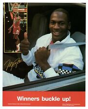>orig. 1980's MICHAEL JORDAN *Seat Belt SIGN* Illinois Dept. of Transportation
