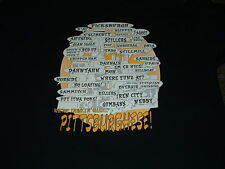 PITTSBURGH, PA PITTSBURGHESE BLACK SHORT SLEEVED T-SHIRT 2X-LARGE NEW