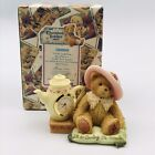 2000 Cherished Teddies Girl w/ Bonnet Teacup Mini Clock Figurine 789909 Enesco