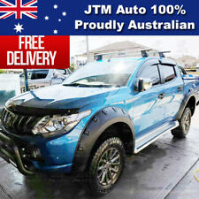4 Pcs Wrinkle Fender Flares Wheel Arch Pocket For Mitsubishi Triton MQ 2014-2018