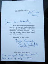 Camilla Parker Bowles - Duchess of Cornwall (Queen?) - SIGNED personal letter
