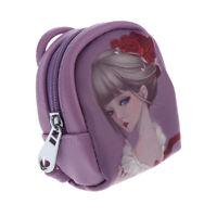 Cute Animated Girl Shoulder Bag Schoolbag Backpack For 1/3 BJD SD Purple