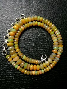 Natural Ethiopian Welo Opal Gemstone Necklace Beads 89 Ct Size 5 to 8 mm S43