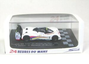 Peugeot 905 Evo 1 No.1 Winner Lemans 1992 1:87 Spark