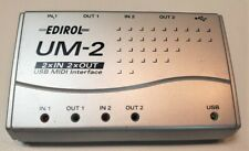 USED EDIROL UM-2 USB MIDI Interface 2 x IN, 2 x OUT From JAPAN