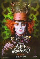 """ALICE IN WONDERLAND """"JOHNNY DEPP AS MAD HATTER"""" POSTER FROM ASIA"""