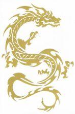 "D443 Dragon gold Racing Tuning Sticker Decal 1 Sheet 10,5""x7"" / 27x18 cm"