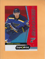2018 19 SYNERGY JORDAN KYROU ROOKIE BOUNTY RED #79 ST LOUIS BLUES * UNSCRATCHED