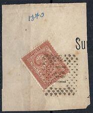 1863-65 REGNO USATO CIFRA 2 CENT FRAMMENTO - RR12089