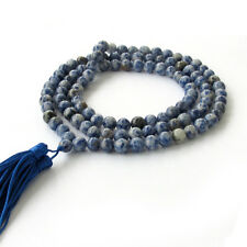 8mm Tibet Buddhist 108 Natural Gemstone Prayer Beads Mala Necklace