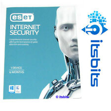 ESET INTERNET SECURITY 1 YEAR x 1 DEVICE  ESD + POSTED PRODUCT KEY WIN 10/8/7