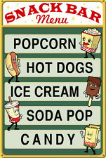 Retro Vintage Movie Sign Intermission Snacks