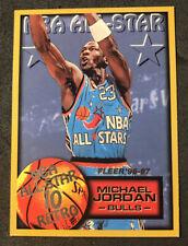 MICHAEL JORDAN 1996-97 FLEER NBA  ALL-STAR 10 RETRO !! INSERT #282 BULLS HOF B12