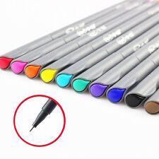 10Pcs/Set Colorful Art Supplies Brush Painting Tool Watercolor Fine Line Pen