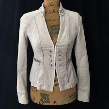 Steampunk White House Black Market Blazer Gray Velvet 00 XXS JAcket Victorian