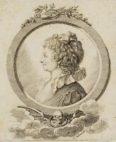 CHODOWIECKI (1726-1801). Portrait Sophie Schwarz, geb. Becker; Druckgraphik 1