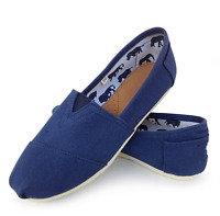 Womens Canvas Fabric Loafer Casual Slip on Tom Style Shoes