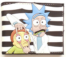 Unique Rick and Morty rubber feel Wallet purse card slot bill section zip pocket